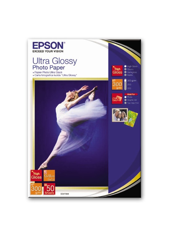 S041944 Бумага Epson Ultra Glossy Photo Paper (50 листов 13x18 см)