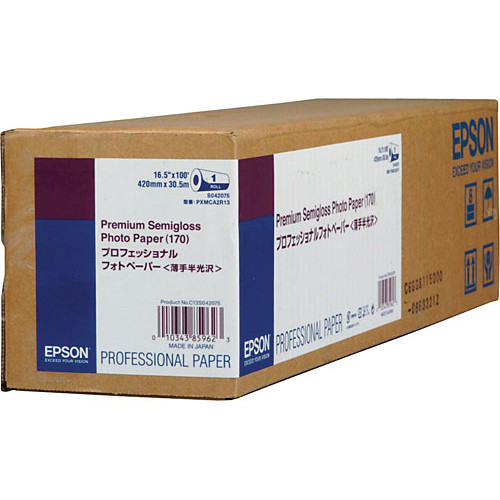 "S042075 Бумага Epson Premium Semigloss Photo Paper (рулон 16,5"" x 30,5 м)"
